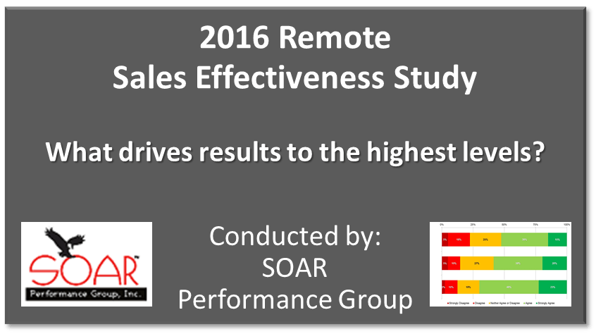 remote sales effectiveness study
